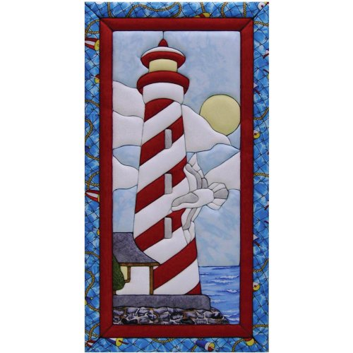Quilt Magic 10-Inch by 19-Inch Lighthouse Kit No Sew Quilt Kits