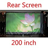 Easy install lightweight 200 inches Projector Screen Portable Folded Rear Projection Screens PVC with Eyelets without Frame