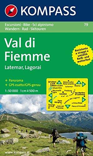 Val di Fiemme, Latemar, Lagorai: Escursioni/Bike/Sci alpinismo. Wandern/Rad/Skitouren. 1:50.000