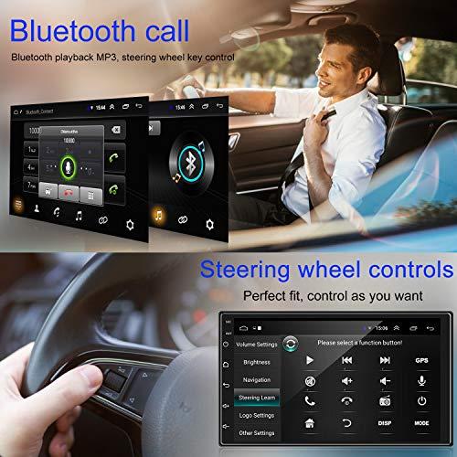 ankeway radio coche 2 din android 91 gps navigation 7 pulgadas 1080p hd pantalla tactil multimedia car player1g16gwifi internetllamada manos libres bluetoothcamara de vision traseramirror link