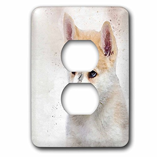 Malamute Sled - Doreen Erhardt Dogs - Watercolor Puppy of an Alaskan Malamute Sled Dog - Light Switch Covers - 2 plug outlet cover (lsp_245336_6)
