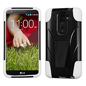ASMYNA White Inverse Advanced Armor Stand Protector Cover for LG D801 (Optimus G2) LG D800 (G2)
