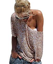 Women's Off Shoulder Sequin Party Top