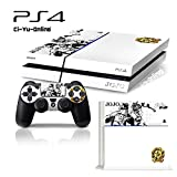 Ci-Yu-Online VINYL SKIN [PS4] JoJo's Bizarre Adventure #2 White Whole Body VINYL SKIN STICKER DECAL COVER for PS4 Playstation 4 System Console and Controllers