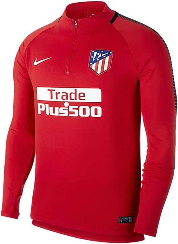 NIKE ATM M NK Dry SQD Dril Camiseta de Manga Larga Atlético de Madrid, Hombre, Rojo / (Sport Red/Sport Red/Black/White): Amazon.es: Ropa y accesorios