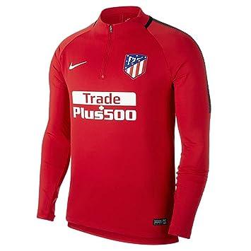 Nike ATM M NK Dry SQD Dril Camiseta de Manga Larga Atlético de Madrid, Hombre