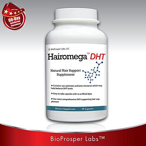 Perte Hairomega DHT Blocker cheveux Supplément, 90-count Bouteille, Supply 45 Jour
