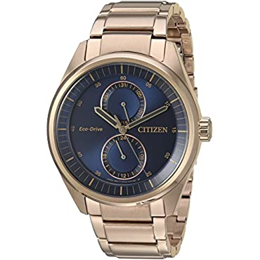 Citizen BU3013-53L Quartz Stainless Steel Rose Gold-Toned Men's Watch