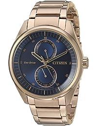 Citizen Men's 'Dress' Quartz Stainless Steel Casual Watch, Color:Rose Gold-Toned (Model: BU3013-53L)