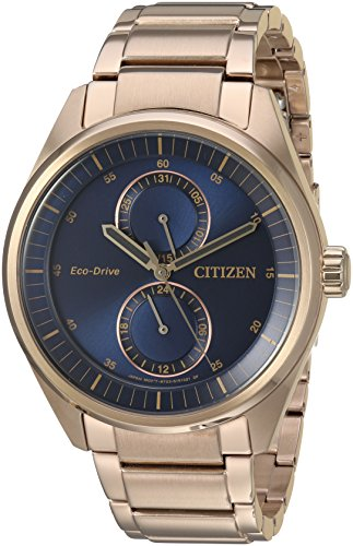 Citizen-Mens-Dress-Quartz-Stainless-Steel-Casual-Watch-ColorRose-Gold-Toned-Model-BU3013-53L