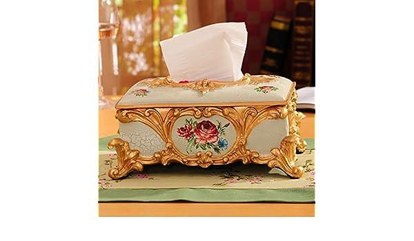 DJ Accesorios caseros de la continental King tamaño tejido caja lujo salón decoración ideas: Amazon.es: Hogar