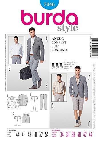 Burda Pattern 7046 Mens Suit