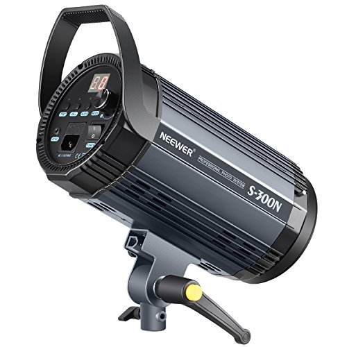 Neewer S300N Professional Studio Monolight Strobe Flash Light-300W 5600K with Modeling Lamp,Aluminium Alloy Professional Speedlite for Indoor Studio Location Model Photography and Portrait Photography by Neewer (Image #2)