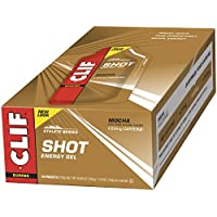 24 Count Clif Shot Energy Gel 1.2 Ounce (Mocha with Caffeine)