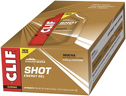 CLIF SHOT – Energy Gel – Mocha – With Caffeine (1.2 Ounce Packet, 24 Count)