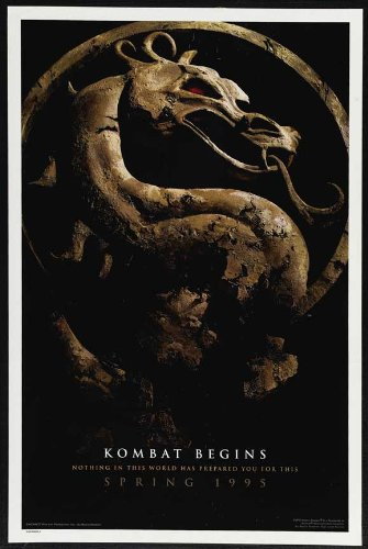 (27x40) Mortal Kombat Movie Linden Ashby Original Poster Print (Mortal Kombat Movie Poster)