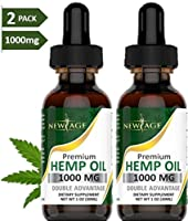 (2-Pack) Hemp Oil Extract for Pain, Anxiety & Stress Relief - 1000mg of Organic Hemp Extract - Grown & Made in USA - 100%...