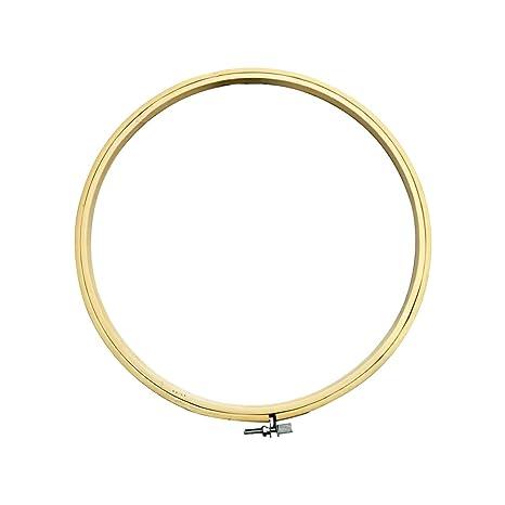 Madera redonda marco de punto de cruz anillo aro de bordado de máquina de coser para