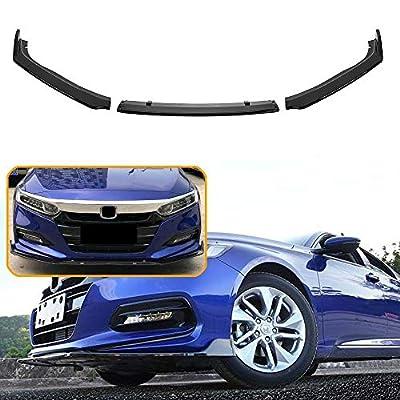 3pcs Front Lip Splitter Bumper for Honda Accord Sedan 2020 2020 Trim Protection Splitter Spoiler, Bright Black: Automotive