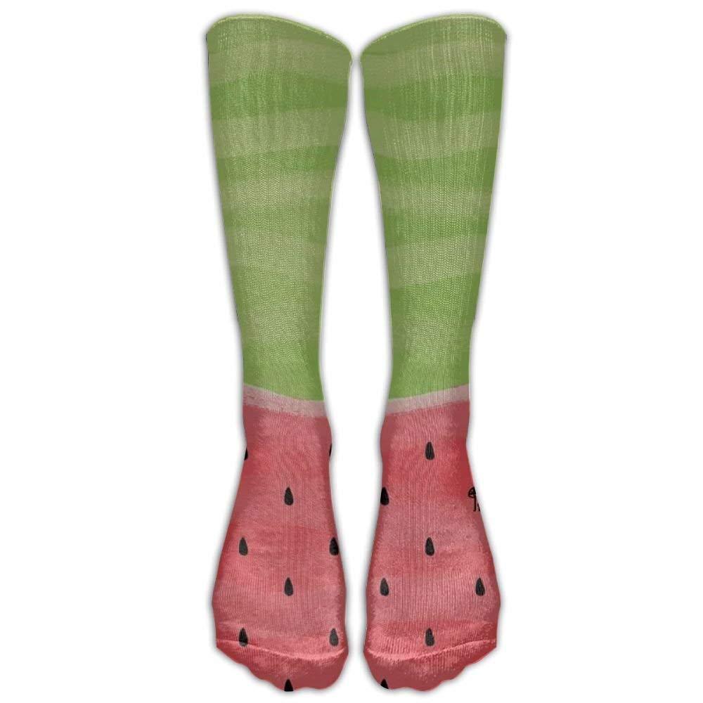 5f07b85afc1bab Amazon.com: NEW Watermelon Nylon Fashion Compression Knee Socks Stay Soft  Hiking For Teen Cartoon Over Knee Long Tube Crew Socks 50cm: Clothing
