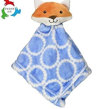 Sun Glower Edredón de Títeres de Mano Juguetes Toalla de Algodón Toalla de Mano Suave Peluche Corto Fox_Blue + Naranja: Amazon.es: Juguetes y juegos