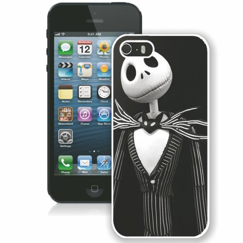 Coque,Fashion Coque iphone 5S Jack Skellington Nightmare Before Christmas blanc Screen Cover Case Cover Fashion and Hot Sale Design