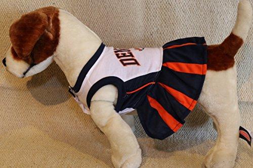 DENVER BRONCOS CHEERLEADER DOG DRESS OUTFIT ALL SIZES LICENSED NFL -