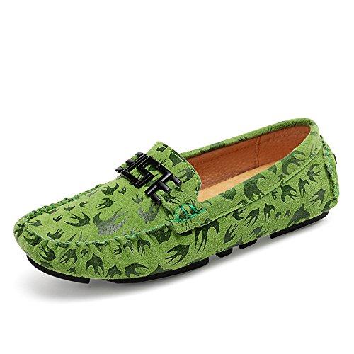 Militare in Verde shoes Color vera Marina manuale Mocassini Cucitura 2018 da EU fatti Lovers Uomo uomo mano Vamp da Mocassini Yajie a Stampa Vamp 40 manuale artigianali pelle Dimensione fxSwqf6