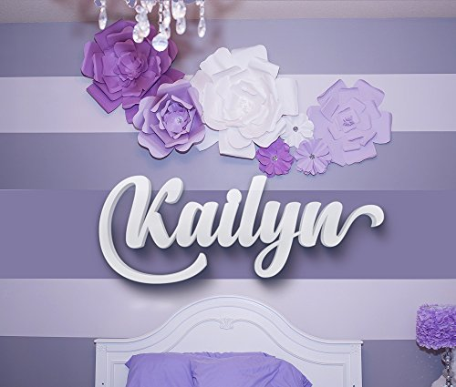 Custom Nursery Name Sign Personalized Letters Couples Gifts Large Wooden Wall Letters Kids Name Sign Wood Letters Baby Name Sign Children's Wall Decor Wedding Gifts (Decor Name Letters)