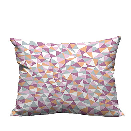 YouXianHome Lovely Cushion Covers Mosaic Endless Pattern Tile Simplicity Continuity Texture Effect Print Light Salmon Resists Stains(Double-Sided Printing) 19.5x30 inch