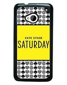 Kate Spade Logo Print HTC M7 Funda Case,Fashion Style Kate Spade Logo Phone Funda Case Hard Plastic Funda Case Cover For HTC One M7