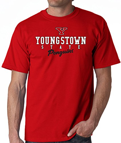 J2 Sport Youngstown State University Penguins NCAA Campus Script Unisex T-Shirt