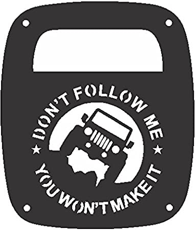 JeepTails Bigfoot Horns and US Flag Tail lamp Light Covers Compatible with Jeep Wrangler YJ and TJ Set of 2
