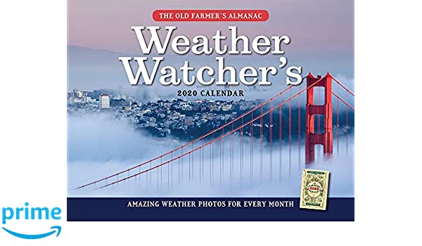 The 2020 Old Farmer's Almanac Weather Watcher's Calendar