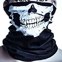 Hitaocity Unique Stretchable Windproof Black Tribal Classic Skull Soft Polyester Half Face Mask Snowboard Snowmobile Snow Ski Facemask Headwear New