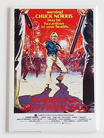 Slaughter in San Francisco Movie Poster Fridge Magnet (2 x 3 inches) (San Francisco Slaughter)