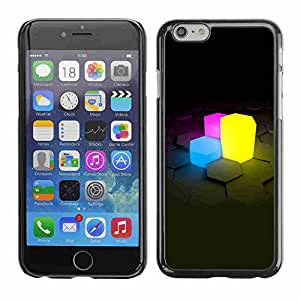 """Shell-Star ( Neon Cubes ) Fundas Cover Cubre Hard Case Cover para 5.5"""" iPhone 6 Plus"""