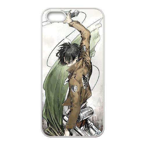 Attack On Titan coque iPhone 4 4S Housse Blanc téléphone portable couverture de cas coque EBDOBCKCO14200