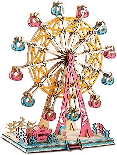 [해외]LUEUR 3D Wooden Puzzle Ferris Wheel Model 295pcs Assembled Wooden Puzzle DIY Hand Craft Toy Gift Brain Teaser for Adults and Age 14+ / LUEUR 3D Wooden Puzzle Ferris Wheel Model 295pcs Assembled Wooden Puzzle DIY Hand Craft Toy Gift...