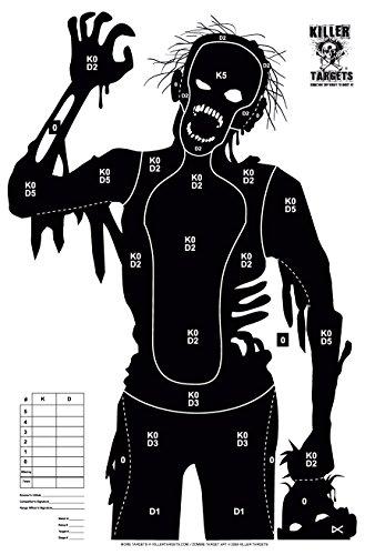 12 Pack Paper Zombie Targets - Patient Zero