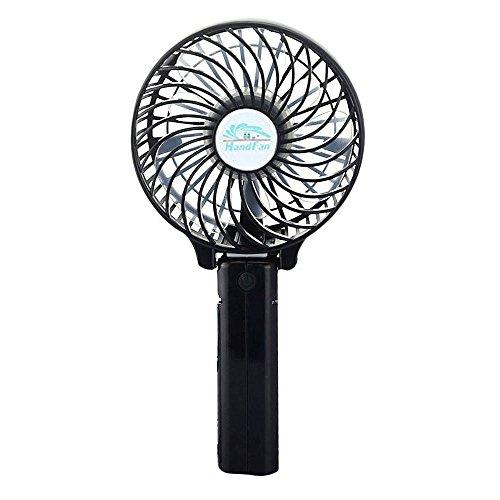BestFire Mini Ventilator, Mini USB Fan, Lüfter ventilator, Elektrische Personal Fans, Elektrische persönlichen Fan mit faltbarem Fans Hand Bar Desktop-Fan Handfächer mit Wiederaufladbare 18650 Batterie