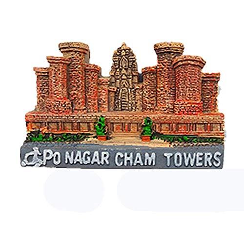 Po Nagar Cham Towers of Nha Trang Vietnam Fridge Magnet Souvenir Gift Collection Home & Kitchen Decoration Vietnam Refrigerator Magnet