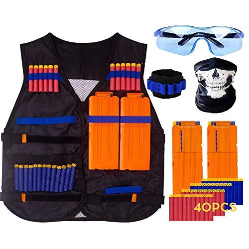 KOSIN Tactical Vest Kit For Nerf Guns N-strike Elite Series for Boys and Girls