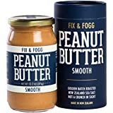 Fix & Fogg Smooth Peanut Butter, All Natural, Non-GMO, Vegan, Keto and Paleo friendly. Handmade in New Zealand. (13.2 oz)