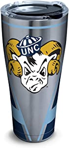 Tervis North Carolina Tar Heels Vault Stainless Steel Insulated Tumbler with Clear and Black Hammer Lid, 30oz, Silver