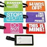 2-piece Colorful & Playful Luggage ID Tags, Colors May Vary
