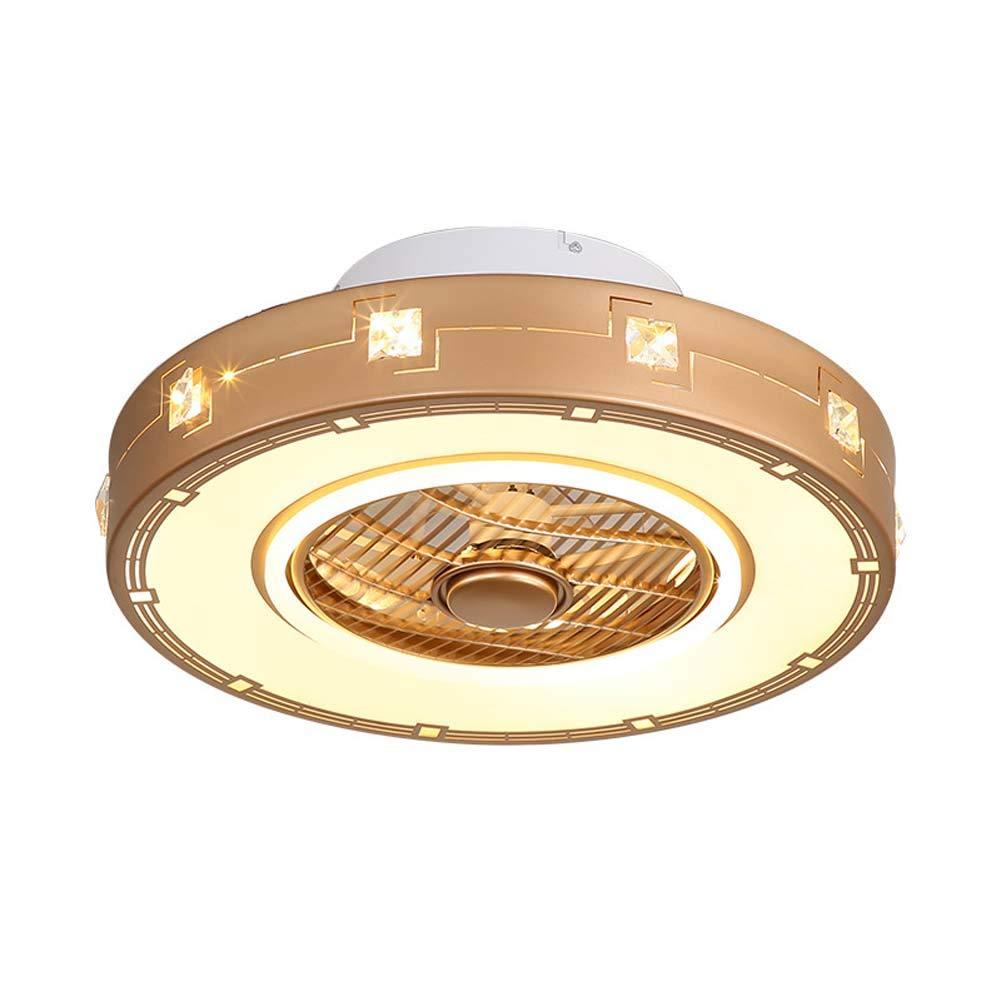 現代のLEDシーリングファンライト(リモコン付き)、調光対応、超静かな、調節可能な風速用シーリングファン(リビングルーム用、寝室シャンパ   B07T4W7FQT