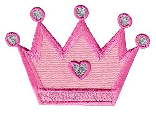 PatchMommy Iron On Patch, Princess Crown - Appliques For Kids Children