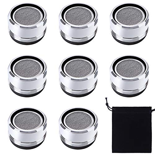 (Elcoho 8 Pieces Faucet Aerators Kitchen Faucet Aerator Replacement Part with Storage Bag, Male Thread)