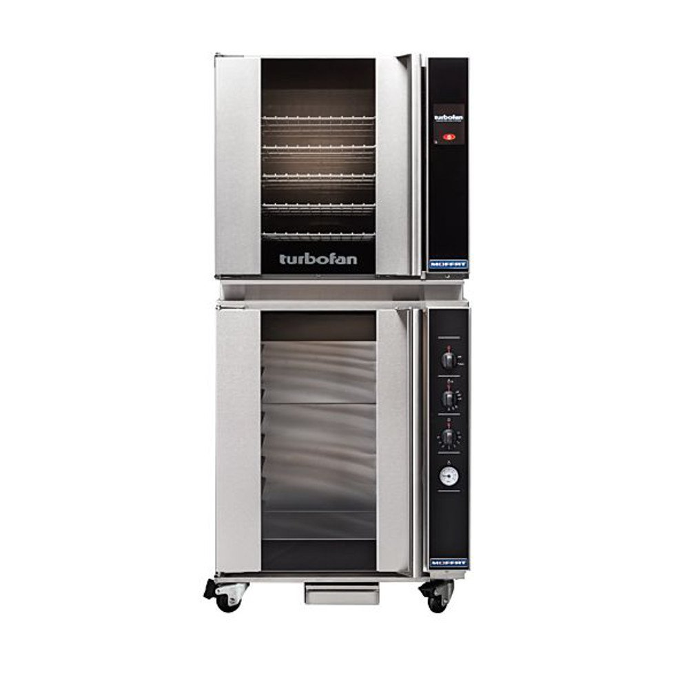 Moffat E32T5/P8M Turbofan Electric Full Size Convection Oven With Touch Screen Controls & P8M Proofer Holding Cabinet